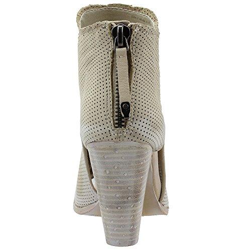Nubuck Vita Perforated Toe Women Dolce Open Bootie Leather Harem Sand HUqxRfwz