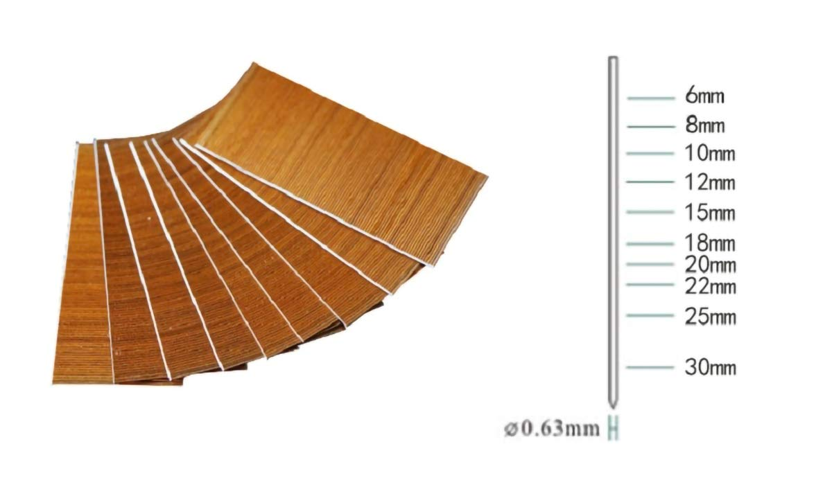 2TRIDENTS Set of 10000 Pcs Brad Nail for Gauge Air Brad Nailer Gun - Great for Carpentry Wood Project Upholstery (Length 30mm) by 2TRIDENTS