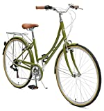 Critical Cycles Beaumont-7 Seven Speed Lady's Urban City Commuter Bike, Olive, 44-Centimeter (Medium/Large)