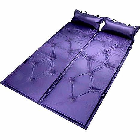 Air colchones para inflar Aire Mat Colchón autohinchable Pad cama portátil con construido en almohada dormir de picnic ligera para Camping Senderismo ...