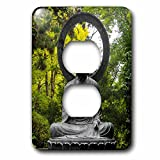 Danita Delimont - Statues - Bronze Buddha statue, Japanese Tea Garden, San Francisco, California - Light Switch Covers - 2 plug outlet cover (lsp_225904_6)