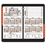 AT-A-GLANCE Burkharts Day Counter Desk Calendar Refill, 4 1/2 x 7 3/8, White 2016