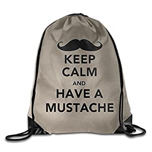 SAXON13 Unisex Lovely HAVE A MUSTACHE Drawstring Backpack
