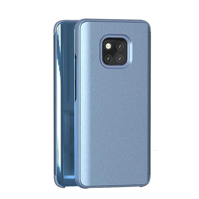 Pacyer Carcasa Huawei Mate 20 Pro, Modelo inteligente Fecha Hora Ver Espejo Brillante tirón del caso duro Con del sueño Despierte Función Funda para ...