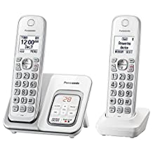 Panasonic KX-TGD532W Cordless Phone with Answering Machine - 2 Handsets (CertifiedRefurbished)