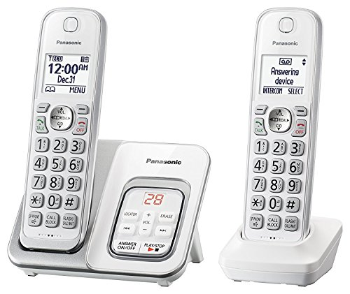 Panasonic KX-TGD532W Cordless Phone with Answering Machine -
