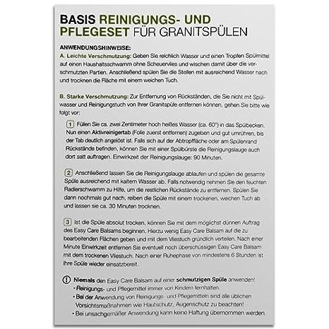Basisreinigungs- und Pflegeset für SCHOCK Granitspülen / Reiniger ...