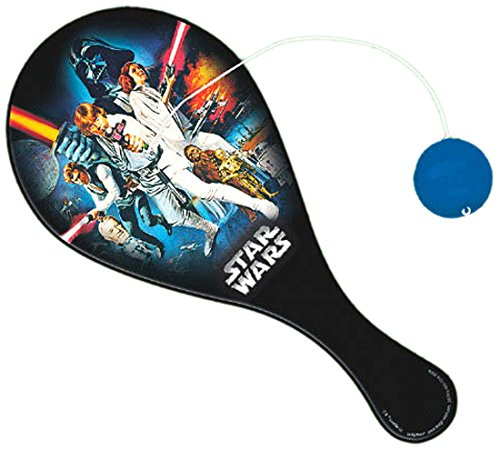 Amscan Star Wars&Trade Classic Paddle Ball Children's Toys, 8 3/4'' x (Classic Paddleball)