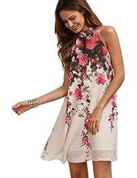 Women's Summer Chiffon Sleeveless Party Dress