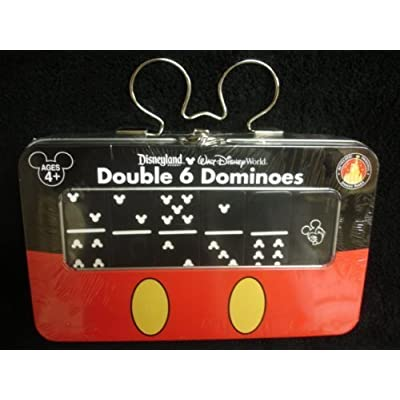 DISNEY PARKS EXCLUSIVE : Double 6 Dominoes: Toys & Games