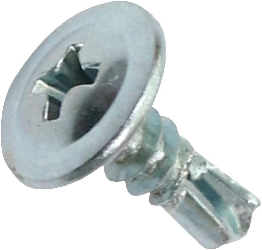 C44674 AERZETIX /Ø4.2x13mm Huella Phillips//Cruciforme Tornillos para chapa Autoperforante Renovaci/ón Acero galvanizado Cabeza grande Abombada Juego de 100 Bricolaje
