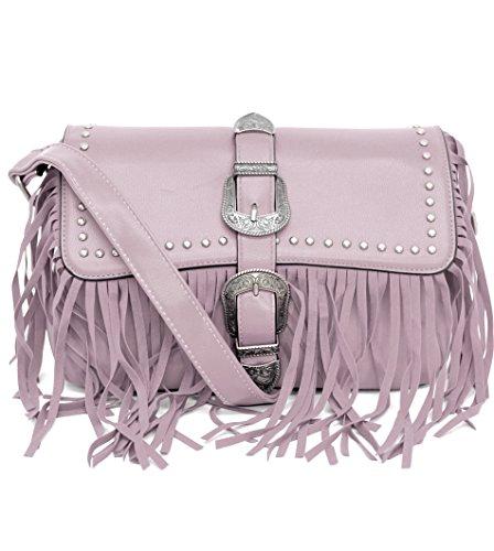 Gyoiamea a175 - Bolso al hombro para mujer Blanco bianco larghezza:28cm altezza:15cm profondità:8cm Rosa