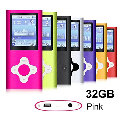 G.G.Martinsen Plum Button 1.78 LCD Screen MP3/MP4 Portable MP3Player , MP4 Player , Video Player , Music (Pink1)
