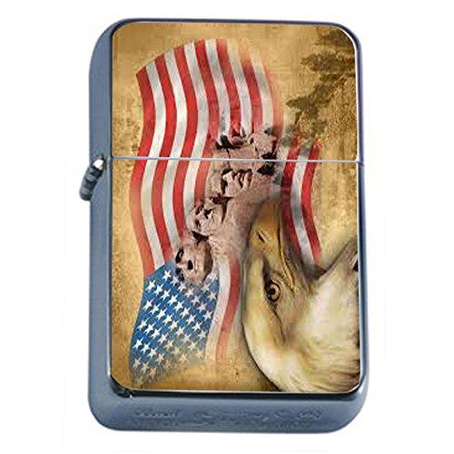 Vintage American Flag Flip Top Oil Lighter D8 Patriotic Freedom American Heroes Veterans by Perfection In Style