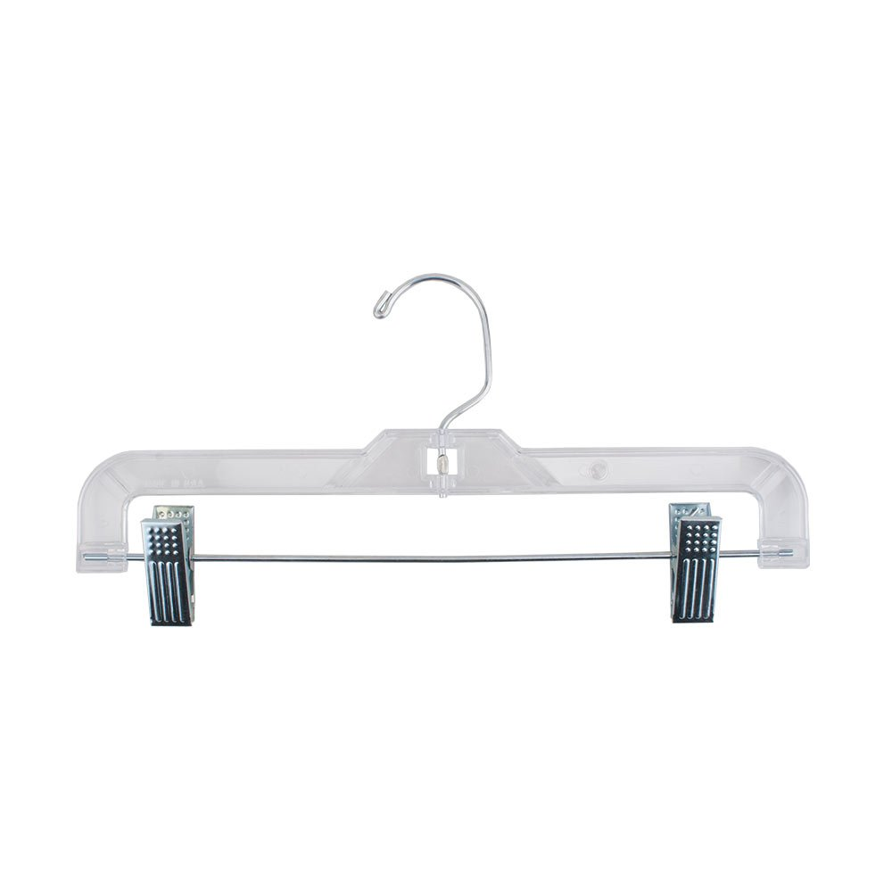 Plastic Kids Hangers with Clips Clear Pack of 100