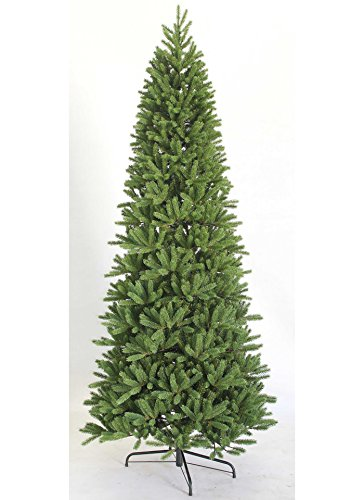 Slim Unlit Christmas Tree (KING OF CHRISTMAS 7.5 Foot King Fraser Fir Slim Quick-Shape Artificial Christmas Tree unlit)