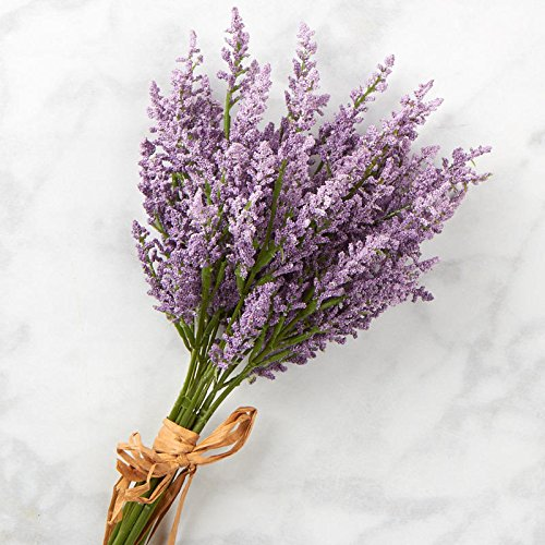 Factory Direct Craft Lavender Artificial Heather Floral Bundle for Indoor Decor and Designing ()