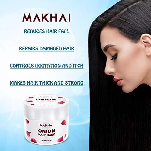 Makhai Anti Dandruff Onion Hair Mask For Dandruff Control And Itching Treatment 200ml Amazon In Beauty