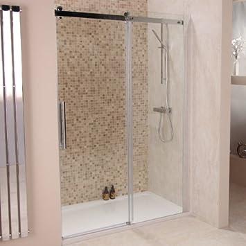 Sliding Frameless Shower Door 1200 8mm Glass Alcove Enclosure