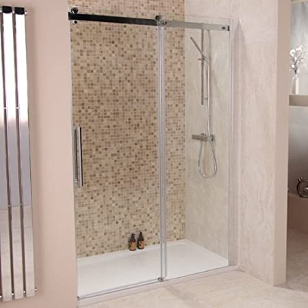 Sliding Frameless Shower Door 1400 8mm Glass Alcove Enclosure