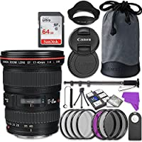 Canon EF 17-40mm f/4L USM Lens Bundle with Accessory Kit (17 items)