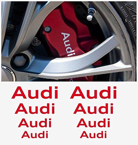 Audi window- brake caliper- mirror decal - 8 pcs in Set 60mm Ð 30mm (white)