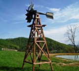 Outdoor Water Solutions WTW0198 Wood Windmill Kit