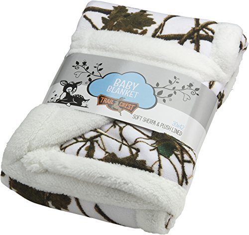Baby Snow Forest Soft Poly fleece Sherpa Blanket 30