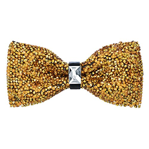 Pre-Tied Sparkle Bow Tie - Gold (Gold Glitter Shirt)