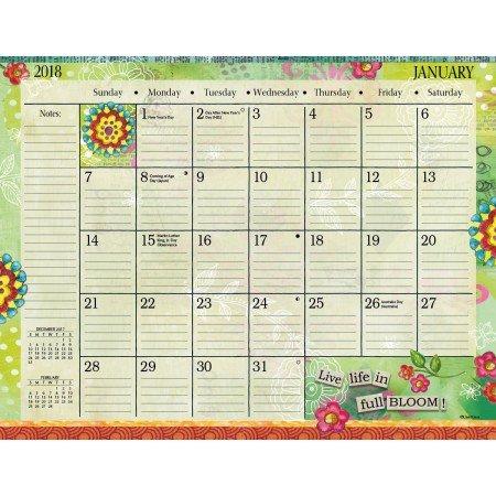 "LANG - 2018 Deskpad - ""Color My World"" - Artwork by Lisa Kaus - 12 Month Format, 22"" x 17"""