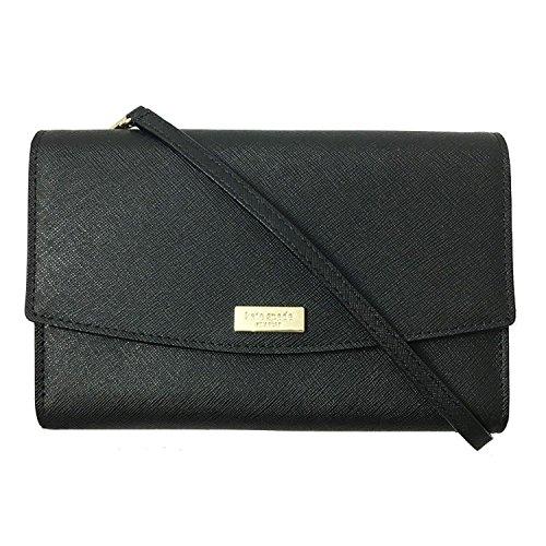 Kate Spade New York Winni Laurel way Crossbody Leather Handbag Wallet WLRU2667 Black (black)
