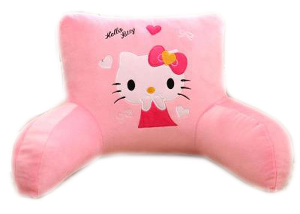 E.a@market Children's Plush Back Cushion Lumbar Pillow Cartoon Pattern (Pink hellokitty)