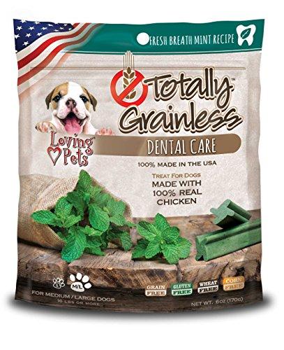 Loving Pets Totally Grainless Fresh Breath Mint Recipe Dental Care For Medium Dogs (1 Pack), 6 Oz