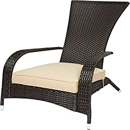 Best ChoiceProducts Wicker Adirondack Chair Patio ...