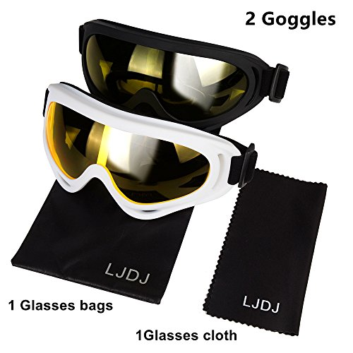 Dirt Bike ATV Motocross Anti-UV Adjustable Riding Offroad Protective Combat Tactical Military Goggles for Men Women Kids Youth Adult Glasses Set of 2 LJDJ Motorcycle Goggles