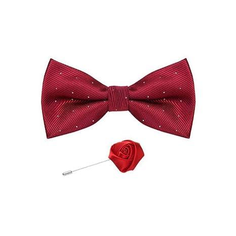 FH Bow Tie Boda Boda Hombre Traje Rojo Conjunto de Banquete ...