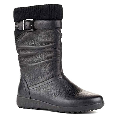 Cold Mid Cougar Womens Leather Weather Calf Boots Closed Toe Black Vivid qHBxqT