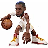 ICONai Small-Stars LEBRON JAMES 11-inch Collectible Figure [ LESS THAN 500 FIGURES PRODUCED,Cleveland Cavaliers Association Edition Jersey, NBA 2017-18 ] ARTIST-AUTOGRAPHED CERTIFICATE PACK