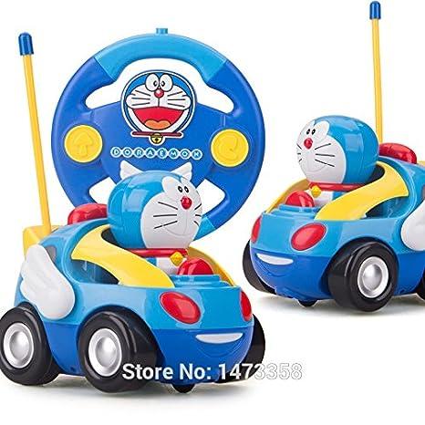 Amazon.com: Anime japonés Doraemon bebé azul Mini RC coche ...
