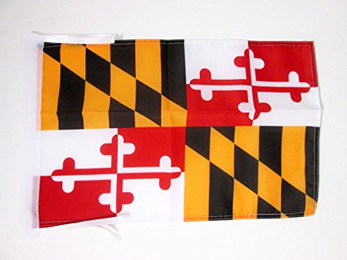 AZ FLAG Maryland Flag 18'' x 12'' Cords - US State of Maryland Small Flags 30 x 45cm - Banner 18x12 in