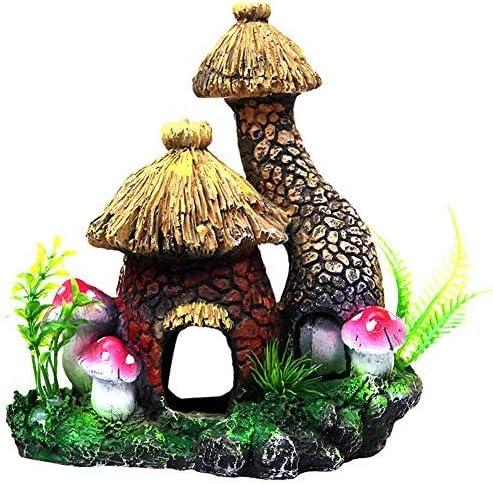 OMEM爬虫類を隠す洞窟両生類の生息地アクセサリー装飾品キノコの家の装飾風景の飾り