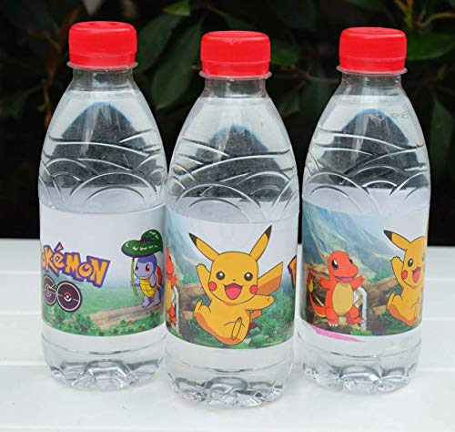 Astra Gourmet Cartoon Bottle Wraps - 24 Cute Cartoon Water Bottle Labels for Birthday Baby Shower Party Decorations