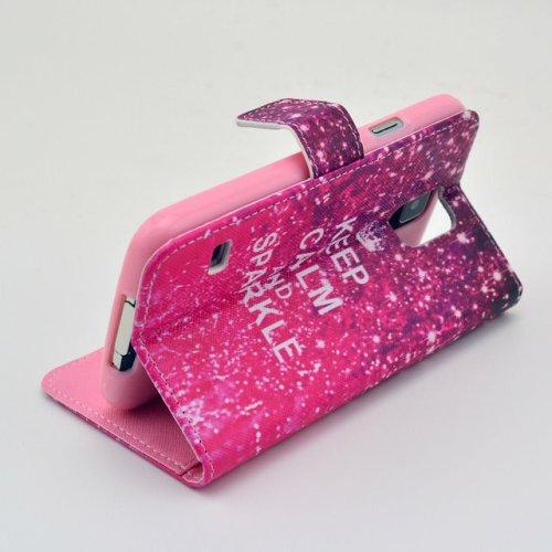 PowerQ [ para IPhoneSE IPhone 5S SE 5G 5 IPhone5 IPhone5S - 7 ] PU Funda Serie bolsa Modelo colorido con bonito hermoso patrón de impresión Impresión Dibujo monedero de la cartera de la cubierta móvil 7