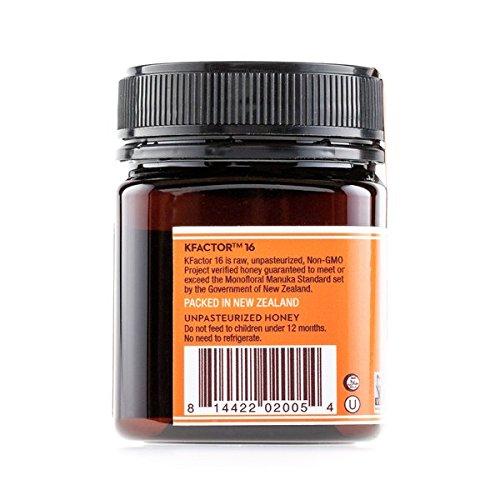 Wedderspoon Raw Premium Manuka Honey KFactor 16, 8.8 Oz, Unpasteurized, Genuine New Zealand Honey, Multi-Functional, Non-GMO Superfood by Wedderspoon (Image #2)