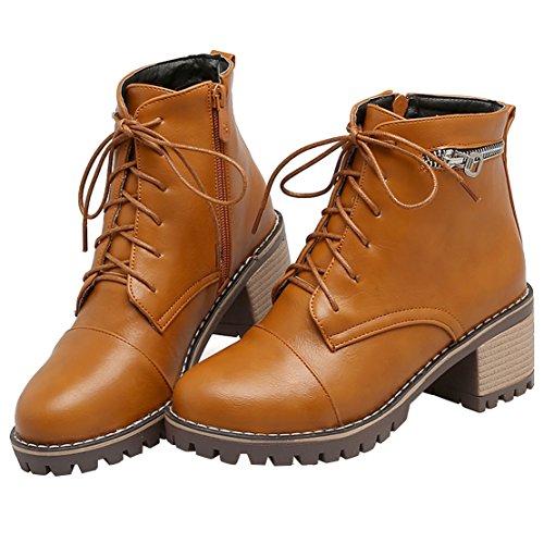Classic Boot Boot Women's Classic Brown Brown AIYOUMEI Women's AIYOUMEI rOBEwqr