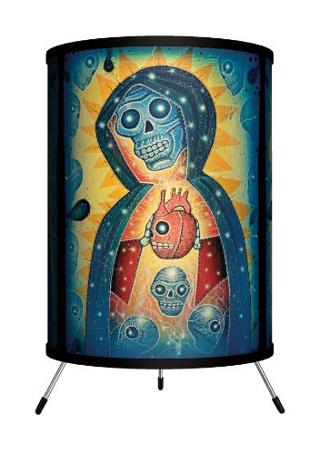 "Lamp-In-A-Box TRI-FAR-JNSAN Featured Artists - Joel Nakamura""Santa Muerte"" Tripod Lamp"
