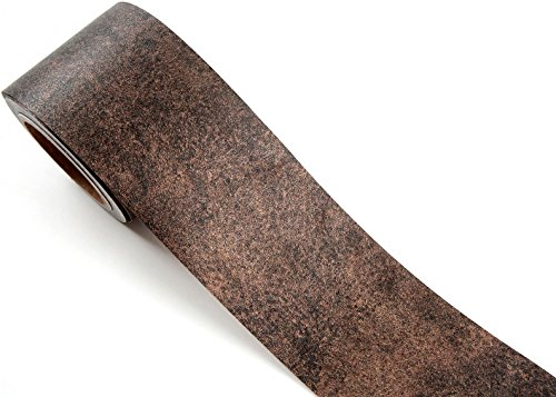 - ROSEROSA Peel & Stick Metallic Color Backsplash Hair Line Wall Paper & Border Sticker Self-Adhesive Wallpaper Shelf Liner Table and Door Reform (MG265B : 3.93 inch X 16.40 feet)