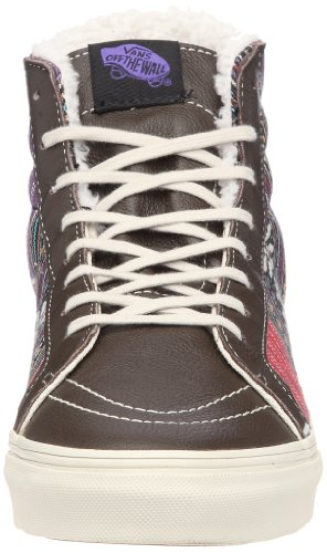 Vans Sk8-Hi Slim VQG366D Unisex - Erwachsene Klassische Sneakers Grau ((Guata Stripe) demitasse/turtledove)