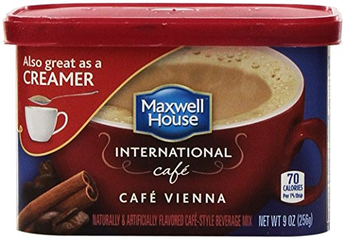 Maxwell House International Cafe CAFE VIENNA Flavored Instant Coffee 9 Oz. (2 Pack)