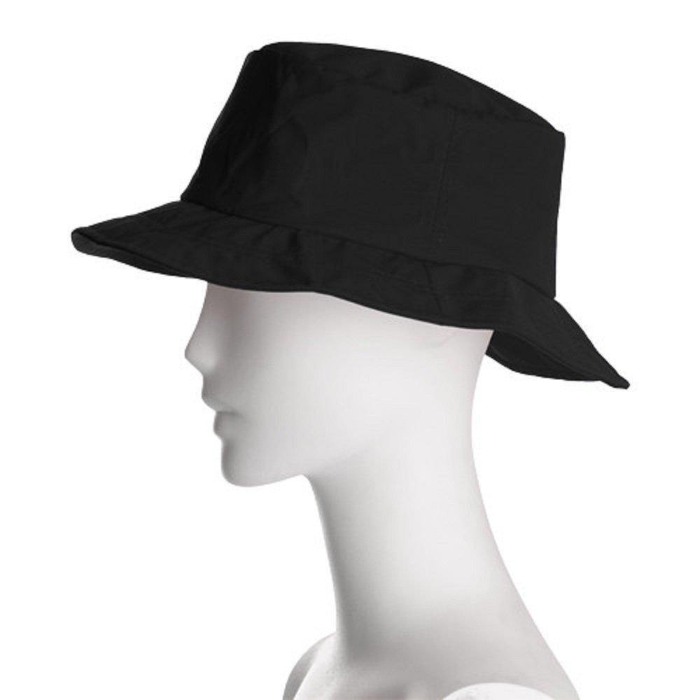 Happy Rainy Days Foldable, Adjustable Rain Hat, Black